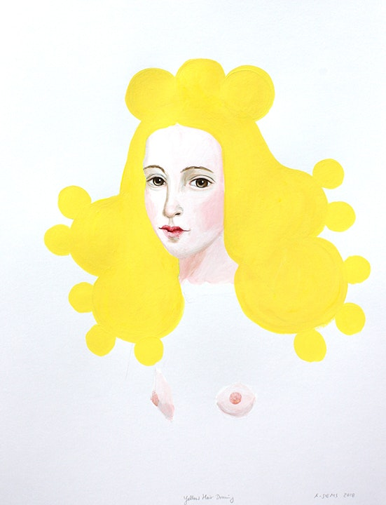 Yellow Hair Drawing