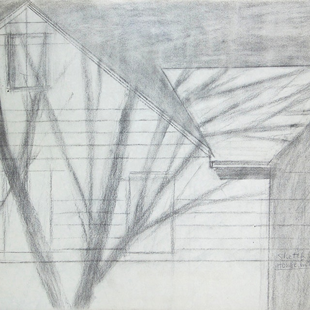 Sketch for House in Winter Sun (1987)