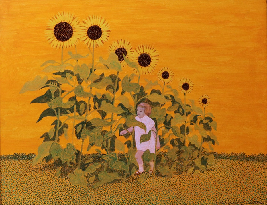 Girl in the Sunflowers