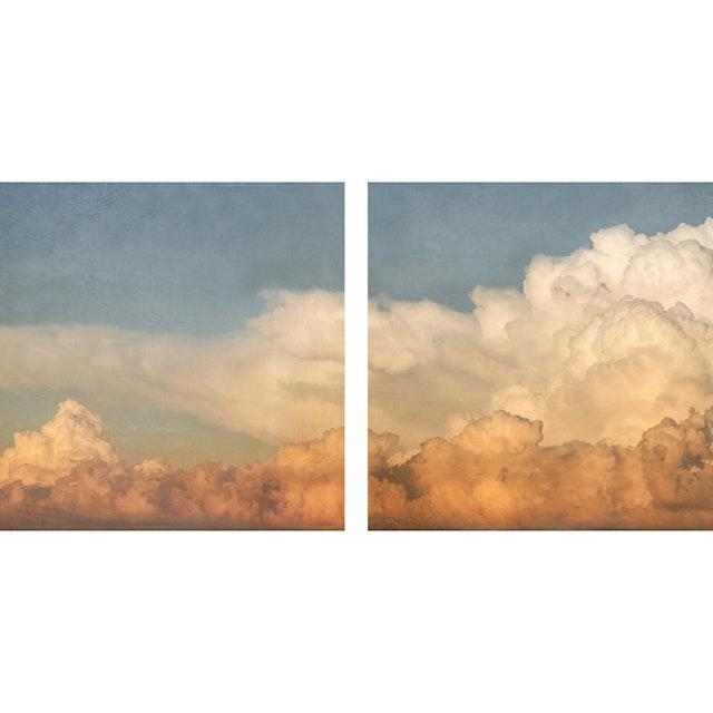 Cloud Study 91 (diptych)