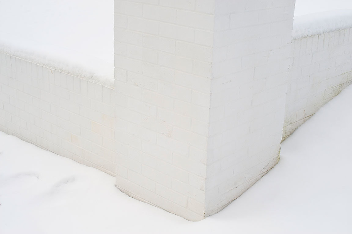 Untitled (snow wall)
