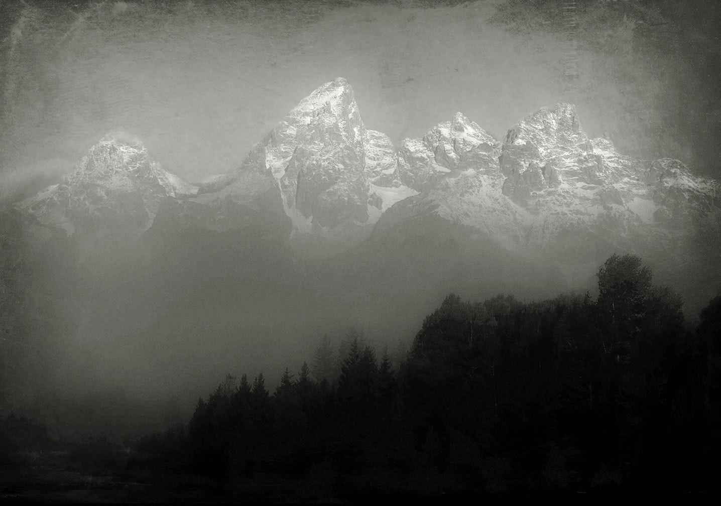 Tetons In Fog