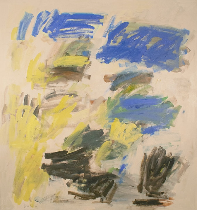 Abstract Yellow and Blue