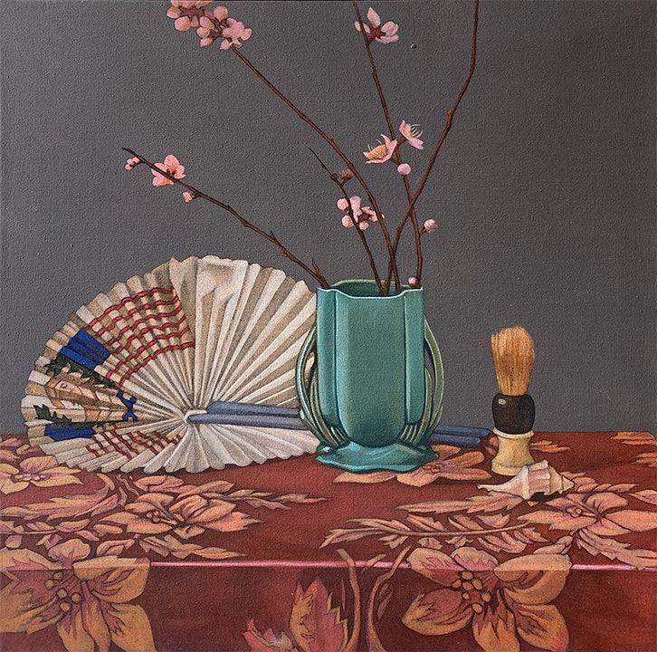 Untitled (Still Life with Flag Fan)