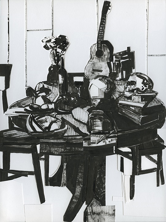 Still Life With Skull And Ukelele