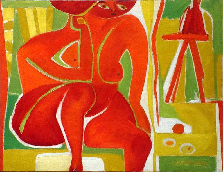 Big Red Figure