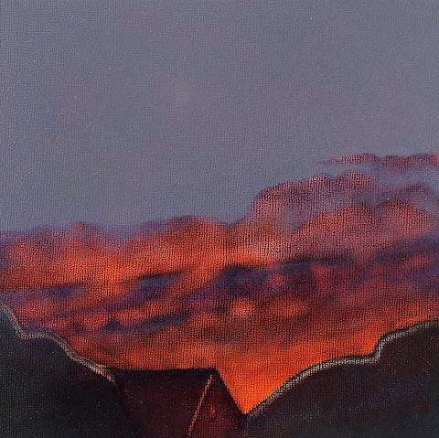 Backyard Sky at Sundown Study No. 1