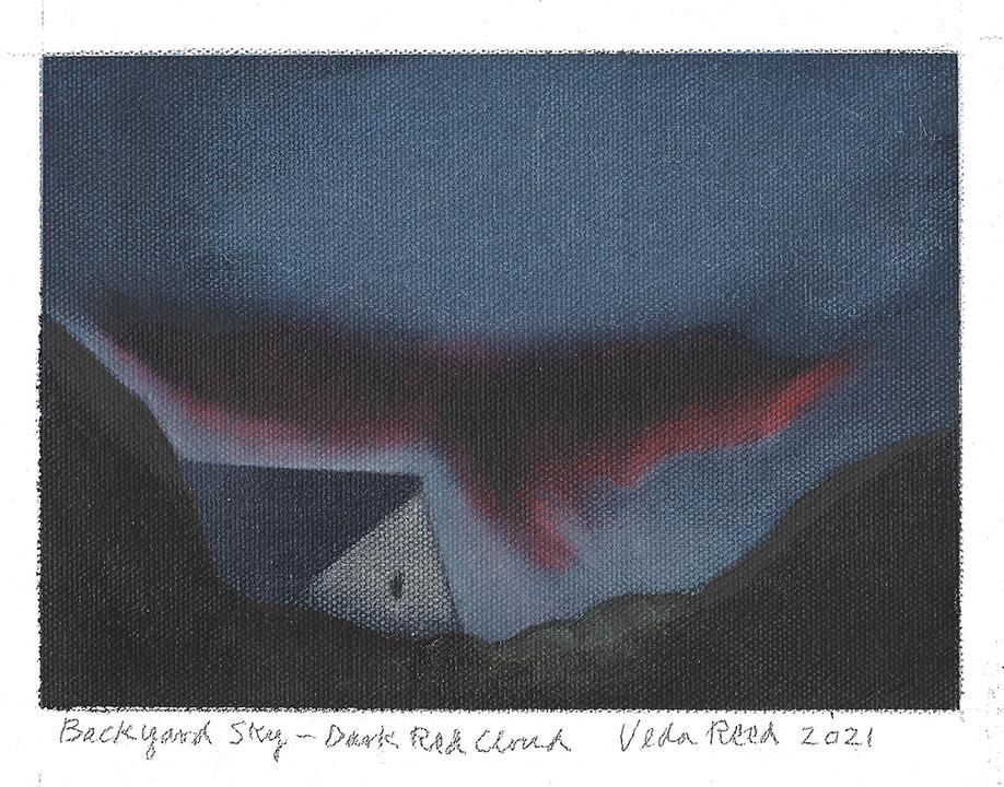 Backyard Sky - Dark Red Cloud