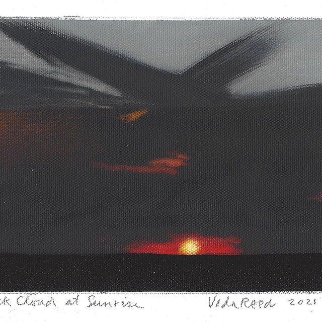 Black Cloud at Sunrise