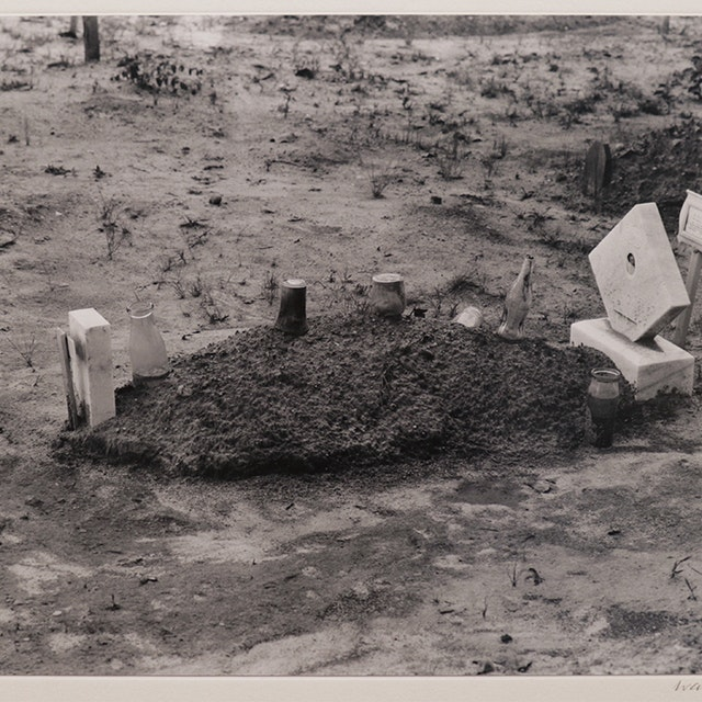 Child's Grave with Bottles and Jars, Hale County, Alabama, 1936