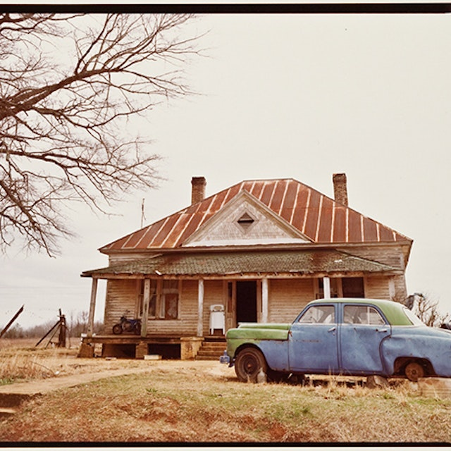 House and Car, Near Akron, AL, 1981