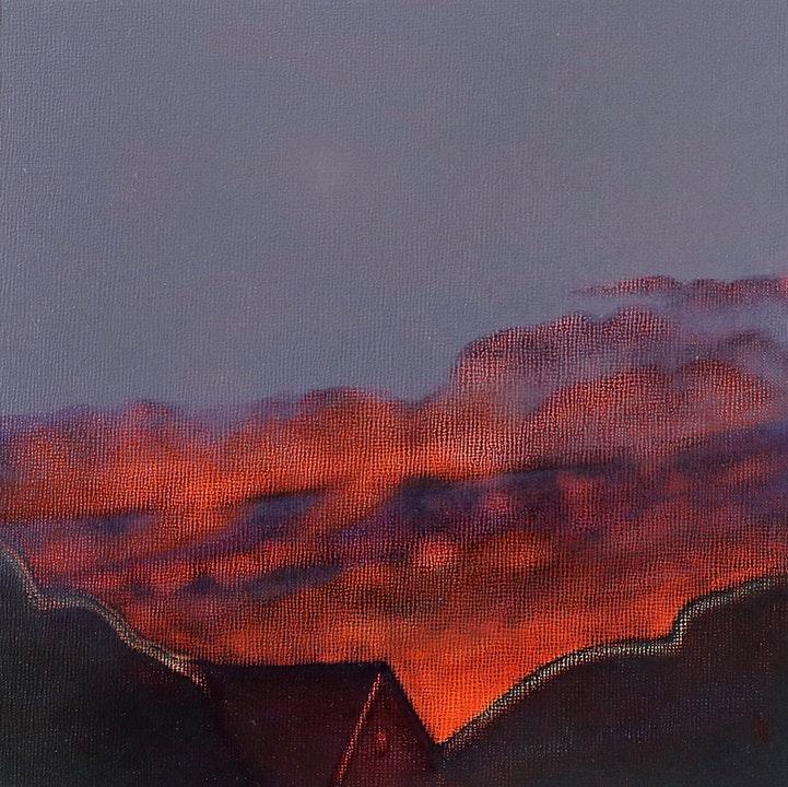 Backyard Sky at Sundown Study No 1