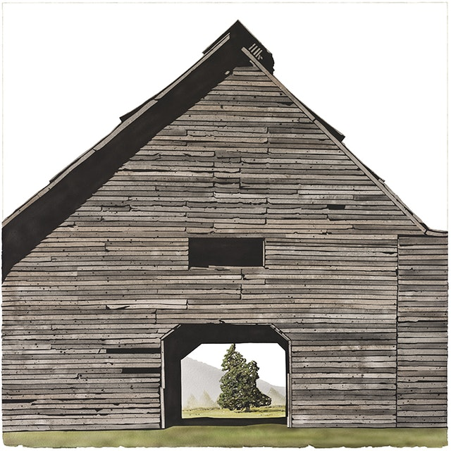 WilliamsonCounty Barn with Cedar Tree